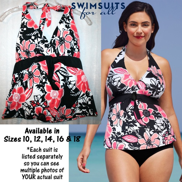 4f509765d7f NWT in Package Shore Club Tie Front Tankini Top. NWT. Swimsuits For All.   23  45. Size